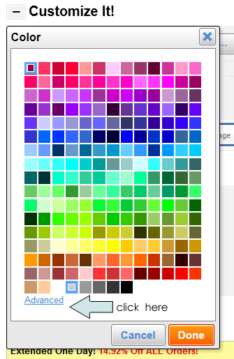 Choosing a Background Color