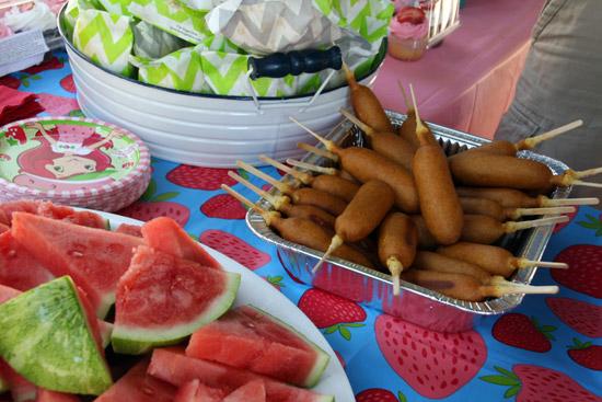 Summer Festival Birthday Party Menu