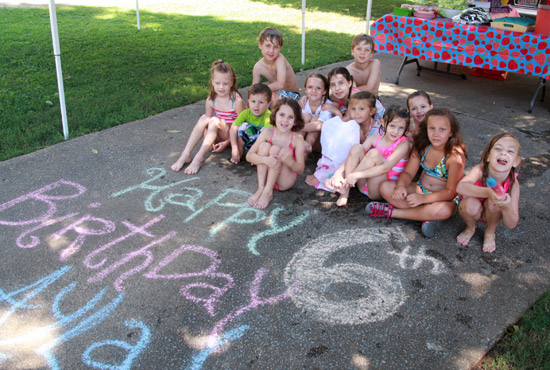 Birthday Party Group Photo Idea