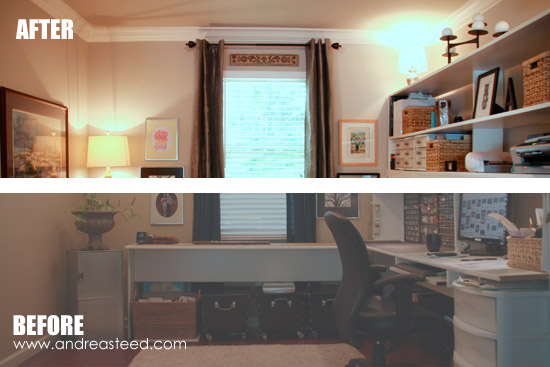 Andrea Steed's Office - Before & After