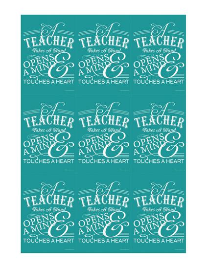 teacher appreciation printable