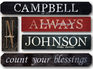 personalized painted signs