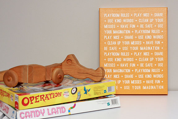 Playroom Rules Wrapped Canvas - Signs By Andrea