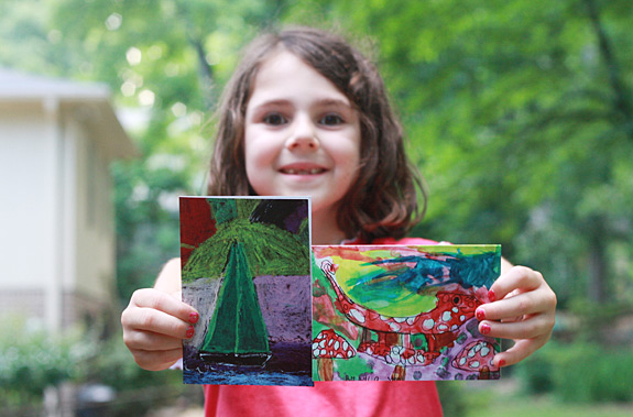 Children's Artwork Printed on Notecards and Greeting Cards