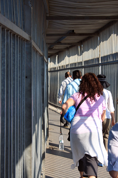 Crossing back to Israel from Bethlehem