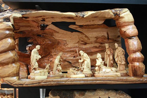 Nativity Carved from Olive Wood