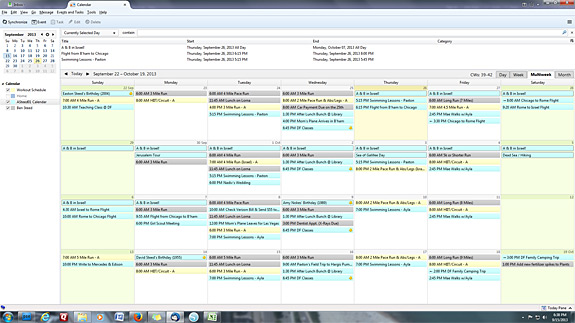 Family Planning - Weekly Scheduling