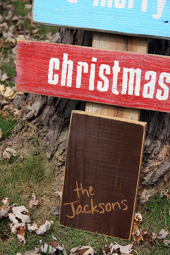 Personalized Wood Christmas Tree