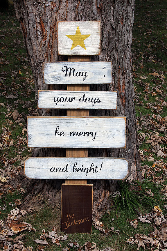 May Your Days Be Merry and Bright - Scrap Wood Christmas Tree