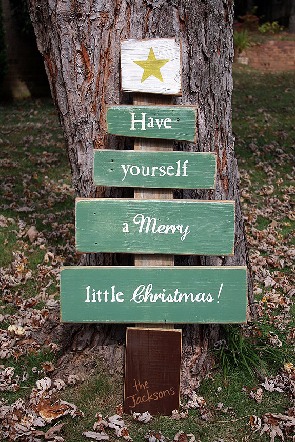 Have Yourself a Merry Little Christmas - Scrap Wood Tree