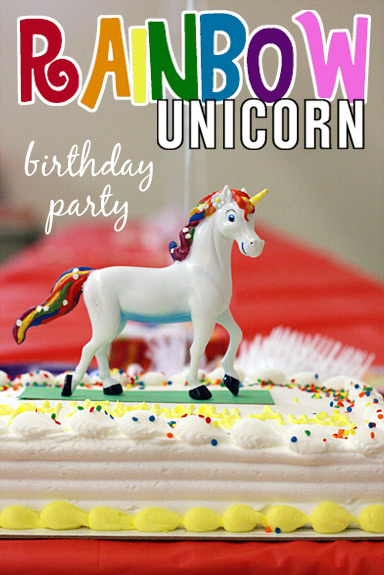 Rainbow Unicorn 7th Birthday Party