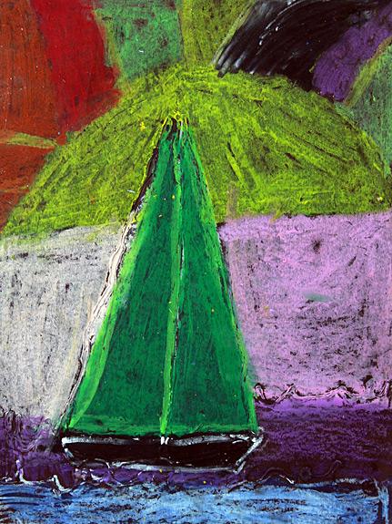 Sailboat Pastel Artwork - Ayla Steed