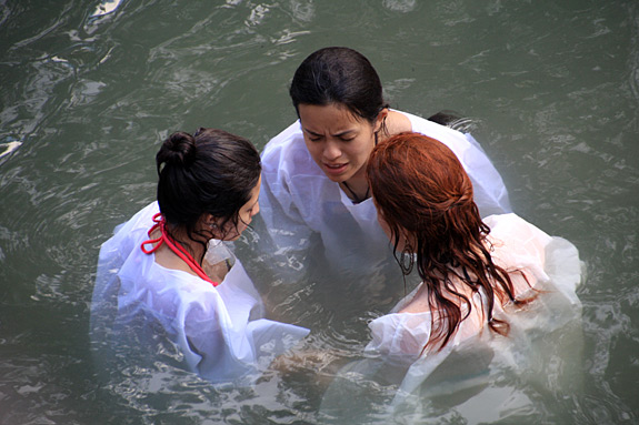Baptism at Jordan River