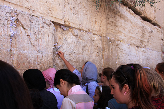 Notes in the Western Wall