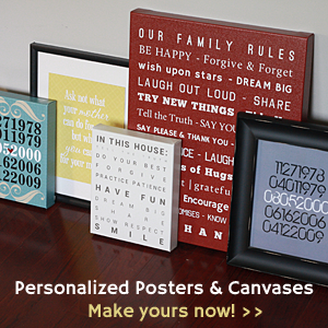 (de)SignsByAndrea - personalized posters, canvases and cards