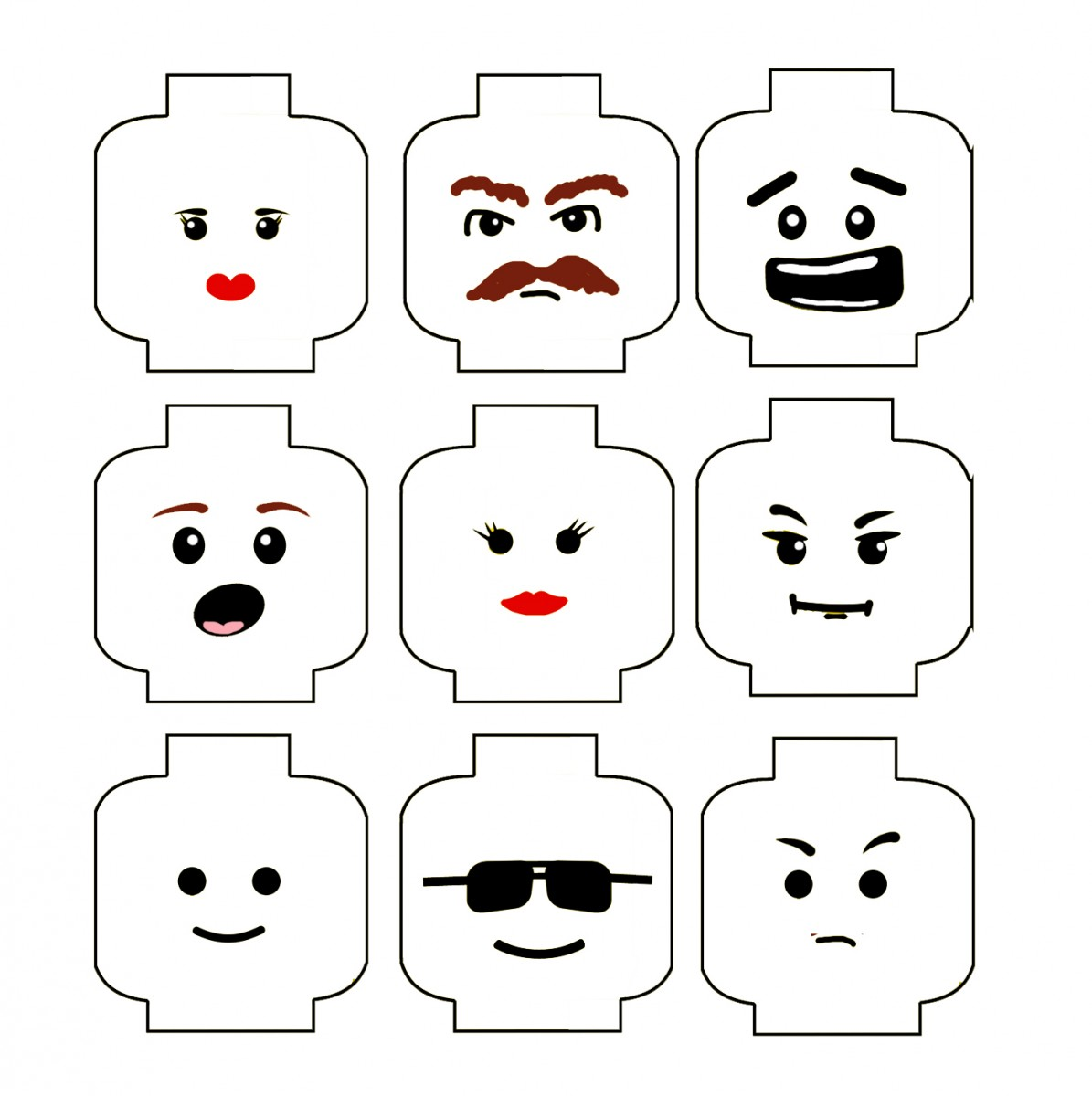 Epic image in printable lego faces