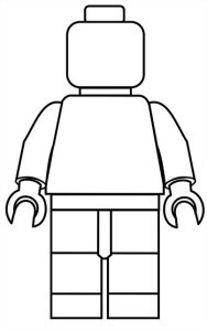Printable Lego Minifigure Coloring Sheet