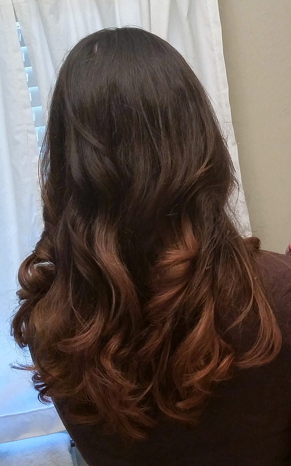 Ombre Hairstyle - Dark Brown Long Hair
