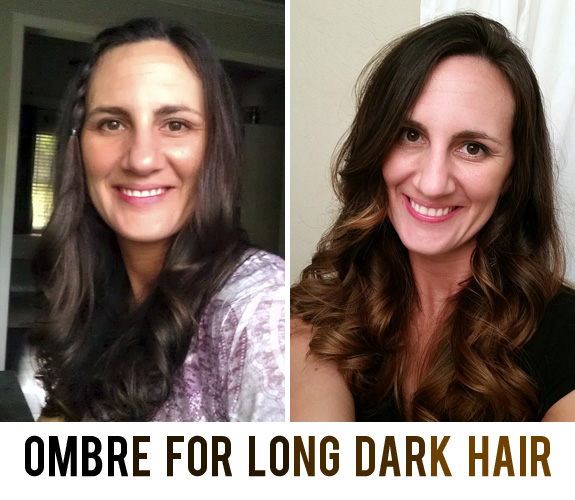 Ombre on Long Dark Hair