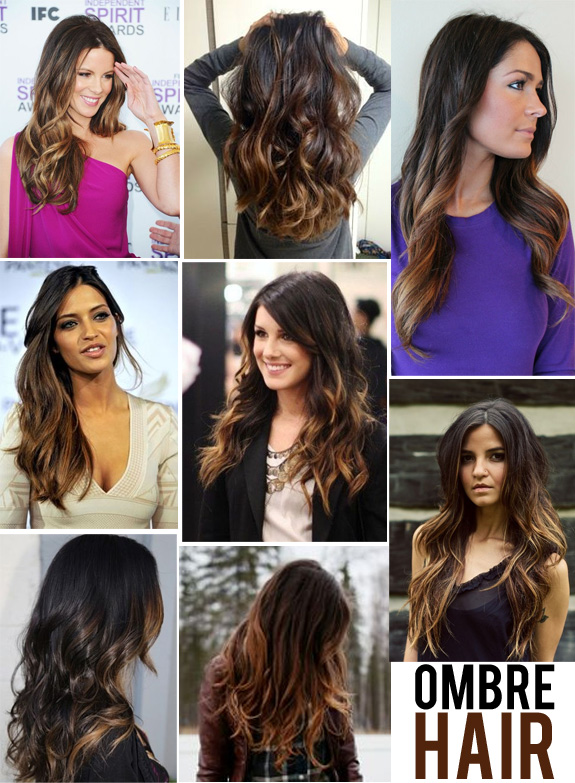 Ombre Color Ideas for Long Dark Hair