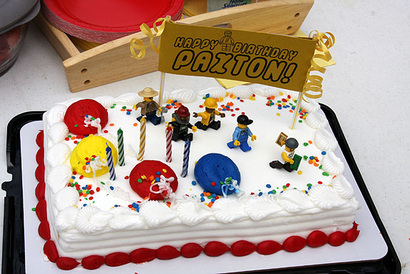 Lego Themed Birthday Cake