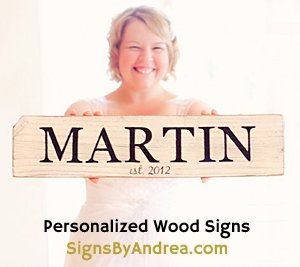 My Personalized Painted Wood Signs