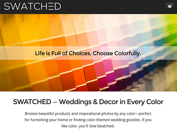 SWATCHED.com - Browse by Color for Home Decor Inspiration and Products