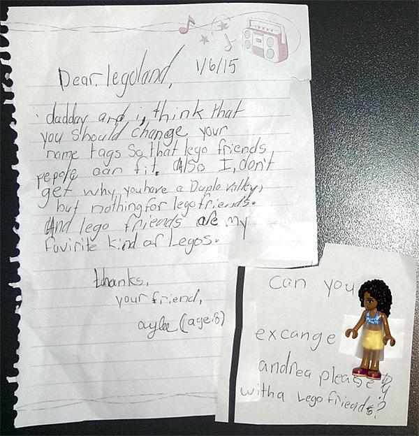 Letter to Legoland