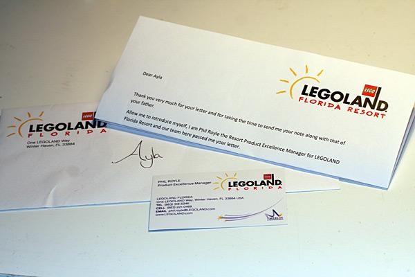 Letter from Legoland