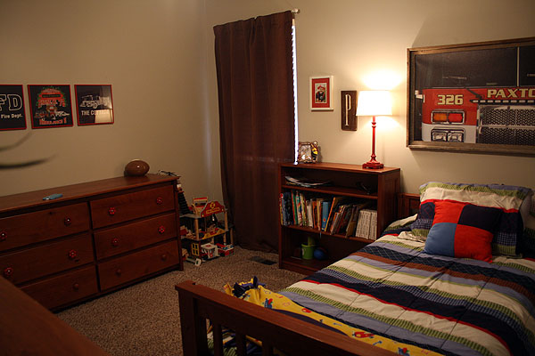 Boys Fire Station Themed Bedroom