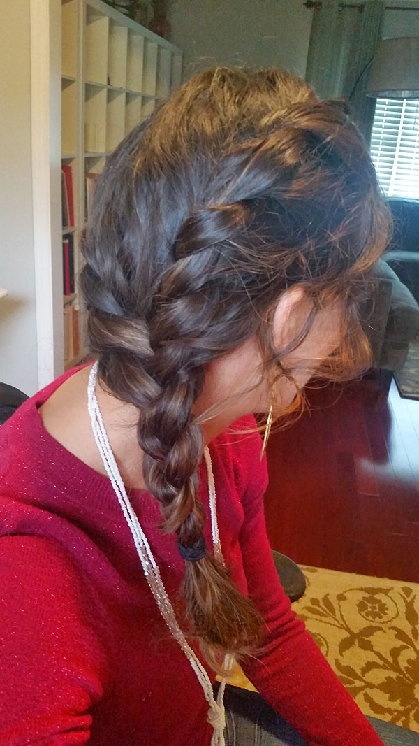 Rope Braid Side View - So fast & easy to do!