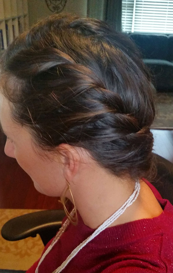 Rope Braid Side View - Great for long curly hair!