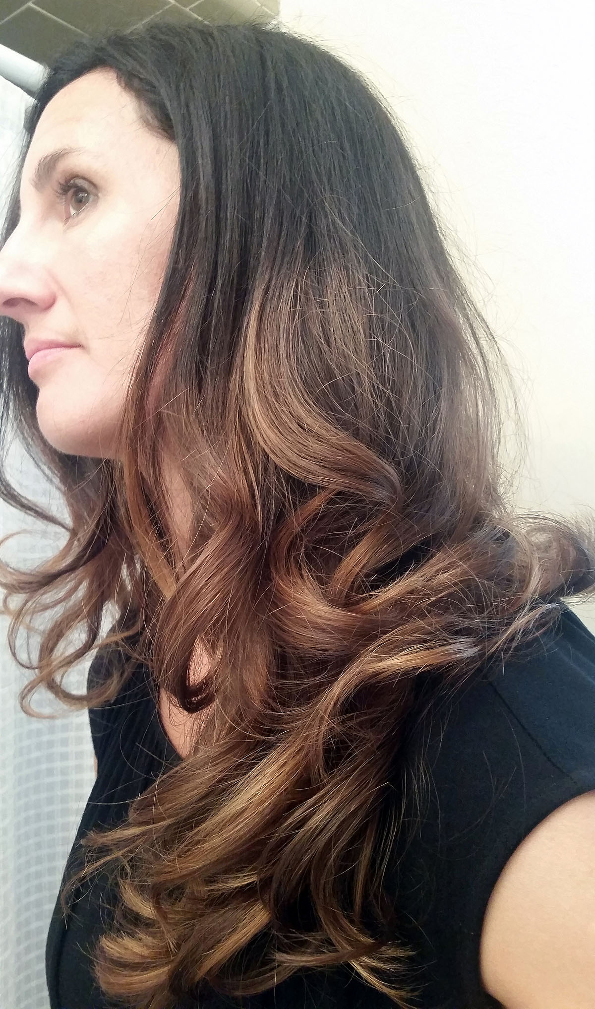 Ombre Hair - Black to Caramel