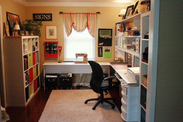 Craftaholics anonymous crafty space andrea from a Bedroom office combo furniture