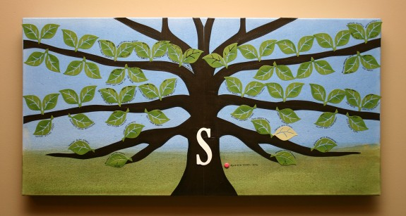 Wrapped Canvas, Watercolor & Cardstock Family Tree