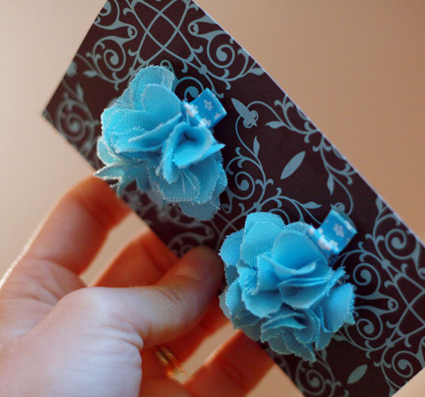 Fabric Flower Hair Clips Tutorial