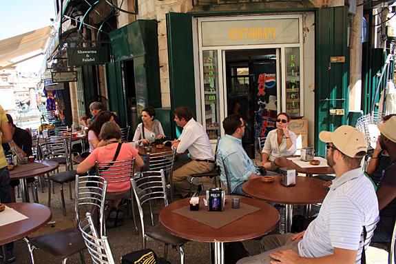 Shawarma & Falafel Cafe in Christian Quarter, Jerusalem