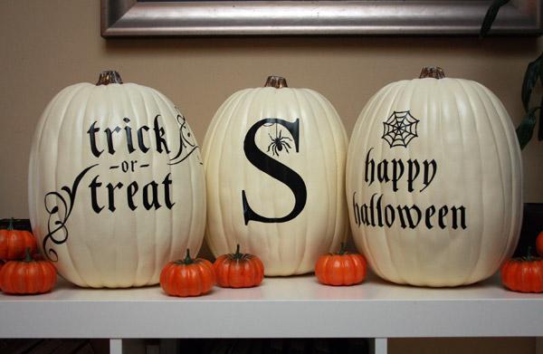 Black and White Pumpkin Tutorial