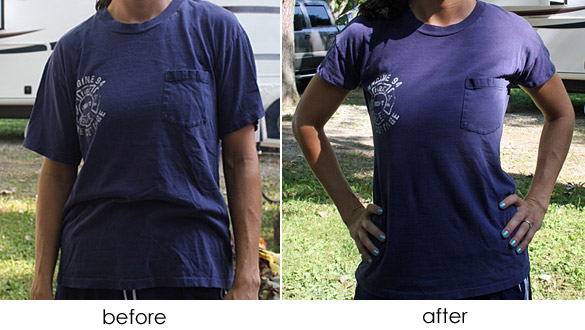 Large Tee to Fitted Tee Tutorial