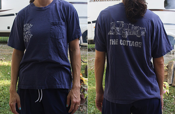 d0ca77a89db Large T-Shirt to Fitted Tee Tutorial